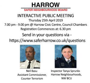 Harrow SNB - Public Meeting - 25th April 2019